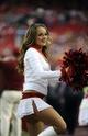 Oct 20, 2013; Kansas City, MO, USA; A Kansas City Chiefs cheerleader performs against the Houston Texans in the second half at Arrowhead Stadium. The Chiefs won 17-16. Mandatory Credit: John Rieger-USA TODAY Sports