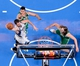 Oct 20, 2013; Montreal, Quebec, CAN; Minnesota Timberwolves forward Kevin Love (42) dunks while Boston Celtics center Vitor Faverani (38) and teammate forward Kelly Olynyk (41) defend during the third quarter at the Bell Centre. Mandatory Credit: Eric Bolte-USA TODAY Sports