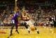 Oct 20, 2013; Portland, OR, USA; Sacramento Kings point guard Isaiah Thomas (22) defends Portland Trail Blazers point guard Damian Lillard (0) in the second half at Moda Center. Mandatory Credit: Jaime Valdez-USA TODAY Sports