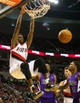 Oct 20, 2013; Portland, OR, USA; Portland Trail Blazers small forward Dorell Wright (1)  dunks against the Sacramento Kings in the second half at Moda Center. Mandatory Credit: Jaime Valdez-USA TODAY Sports