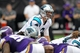 Oct 13, 2013; Minneapolis, MN, USA; Carolina Panthers quarterback Derek Anderson (3) against the Minnesota Vikings at Mall of America Field at H.H.H. Metrodome. The Panthers defeated the Vikings 35-10. Mandatory Credit: Brace Hemmelgarn-USA TODAY Sports