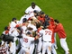 Oct 19, 2013; Boston, MA, USA; The Boston Red Sox celebrate after defeating the Detroit Tigers during the ninth inning in game six of the American League Championship Series baseball game at Fenway Park. Mandatory Credit: Bob DeChiara-USA TODAY Sports