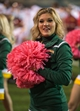 Oct 19, 2013; Waco, TX, USA; A Baylor Bears cheerleader roots for the Bears during the game between the Bears and the Iowa State Cyclones at Floyd Casey Stadium. The Bears defeated the Cyclones 71-7. Mandatory Credit: Jerome Miron-USA TODAY Sports