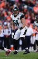 Oct 13, 2013; Denver, CO, USA; Jacksonville Jaguars middle linebacker Paul Posluszny (51) in the third quarter against the Denver Broncos at Sports Authority Field at Mile High. The Broncos defeated the Jaguars 35-19. Mandatory Credit: Ron Chenoy-USA TODAY Sports