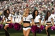 Oct 20, 2013; Philadelphia, PA, USA; Philadelphia Eagles cheerleaders perform during the fourth quarter against the Dallas Cowboys at Lincoln Financial Field. The Cowboys defeated the Eagles 17-3. Mandatory Credit: Howard Smith-USA TODAY Sports