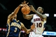 Oct 22, 2013; Atlanta, GA, USA; Indiana Pacers point guard George Hill (3) steals the ball from Atlanta Hawks point guard Royal Ivey (10) in the first half at Philips Arena. Mandatory Credit: Daniel Shirey-USA TODAY Sports