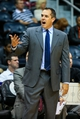 Oct 22, 2013; Atlanta, GA, USA; Indiana Pacers head coach Frank Vogel reacts to a call in the first half against the Indiana Pacers at Philips Arena. Mandatory Credit: Daniel Shirey-USA TODAY Sports