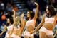 Oct 22, 2013; Phoenix, AZ, USA;Phoenix Suns cheerleaders perform during the game against the Oklahoma City Thunder at US Airways Center. The Suns defeated the Thunder 88 to 76. Mandatory Credit: Jennifer Stewart-USA TODAY Sports