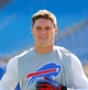 Sep 29, 2013; Orchard Park, NY, USA; Buffalo Bills wide receiver Chris Hogan (15) before a game against the Baltimore Ravens at Ralph Wilson Stadium. Mandatory Credit: Timothy T. Ludwig-USA TODAY Sports