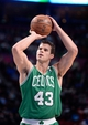 Oct 20, 2013; Montreal, Quebec, CAN; Boston Celtics forward Kris Humphries (43) at the free throw line during the third quarter against the Minnesota Timberwolves at the Bell Centre. Mandatory Credit: Eric Bolte-USA TODAY Sports