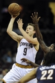 Oct 19, 2013; Cleveland, OH, USA; Cleveland Cavaliers guard Mattthew Dellavedova (9) during the game against the Indiana Pacers at Quicken Loans Arena. The Pacers beat the Cavaliers 102-79. Mandatory Credit: Ken Blaze-USA TODAY Sports