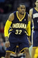 Oct 19, 2013; Cleveland, OH, USA; Indiana Pacers guard C.J. Watson (32) during the game against the Cleveland Cavaliers at Quicken Loans Arena. The Pacers beat the Cavaliers 102-79. Mandatory Credit: Ken Blaze-USA TODAY Sports