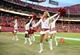 Oct 20, 2013; Kansas City, MO, USA; Kansas City Chiefs cheerleaders perform after the game against the Houston Texans at Arrowhead Stadium. The Chiefs won 17-16. Mandatory Credit: John Rieger-USA TODAY Sports