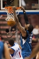 Oct 23, 2013; Philadelphia, PA, USA; Minnesota Timberwolves center Ronny Turiaf (32) dunks during the third quarter against the Philadelphia 76ers at Wells Fargo Center. The Timberwolves defeated the Sixers 125-102. Mandatory Credit: Howard Smith-USA TODAY Sports