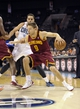 Oct 24, 2013; Charlotte, NC, USA; Cleveland Cavaliers guard Matthew Dellavedova (9) drives into the paint during the game against the Charlotte Bobcats at Time Warner Cable Arena. Mandatory Credit: Sam Sharpe-USA TODAY Sports