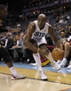 Oct 24, 2013; Charlotte, NC, USA; Charlotte Bobcats forward Anthony Tolliver (43) catches a ball before it goes out of bounds during the game against the Cleveland Cavaliers at Time Warner Cable Arena. Bobcats win 102-95. Mandatory Credit: Sam Sharpe-USA TODAY Sports