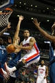 Oct 24, 2013; Auburn Hills, MI, USA; Detroit Pistons point guard Peyton Siva (34) looks to make a pass during the third quarter against the Minnesota Timberwolves at The Palace of Auburn Hills. Pistons beat the Timberwolves 99-98. Mandatory Credit: Raj Mehta-USA TODAY Sports