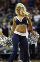 Oct 23, 2013; Dallas, TX, USA; Dallas Mavericks dancer performs during the game against the Atlanta Hawks at American Airlines Center. Dallas won 99-88. Mandatory Credit: Kevin Jairaj-USA TODAY Sports