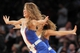 Oct 25, 2013; New York, NY, USA; New York Knicks dancers perform during the fourth quarter of a preseason game against the Charlotte Bobcats at Madison Square Garden. Mandatory Credit: Brad Penner-USA TODAY Sports