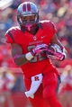 Oct 26, 2013; Piscataway, NJ, USA; Rutgers Scarlet Knights running back Justin Goodwin (32) runs with the ball during the first half of their game against the Houston Cougars at High Point Solutions Stadium. Mandatory Credit: Ed Mulholland-USA TODAY Sports