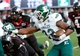 Oct 26, 2013; DeKalb, IL, USA; Eastern Michigan Eagles fullback Joe Fleming (23) rushes the ball against the Northern Illinois Huskies during the first half at Huskie Stadium. Mandatory Credit: Mike DiNovo-USA TODAY Sports
