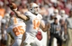 Oct 26, 2013; Tuscaloosa, AL, USA; Tennessee Volunteers quarterback Justin Worley (14) passes against the Alabama Crimson Tide during the first quarter at Bryant-Denny Stadium. Mandatory Credit: John David Mercer-USA TODAY Sports