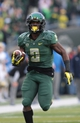 Oct 26, 2013; Eugene, OR, USA; Oregon Ducks running back Byron Marshall (9) runs for a touchdown in the second quarter against the UCLA Bruins at Autzen Stadium. Mandatory Credit: Scott Olmos-USA TODAY Sports