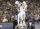Oct 26, 2013; Fort Worth, TX, USA; Texas Longhorns wide receiver Marcus Johnson (7) celebrates with wide receiver Jaxon Shipley (8) after scoring a touchdown against the TCU Horned Frogs in the second quarter at Amon G. Carter Stadium. Mandatory Credit: Tim Heitman-USA TODAY Sports