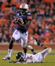 Oct 26, 2013; Auburn, AL, USA; Auburn Tigers wide receiver Sammie Coates (18) runs the ball past the Florida Atlantic Owls defense for a touchdown at Jordan Hare Stadium. Mandatory Credit: Shanna Lockwood-USA TODAY Sports