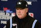Oct 26, 2013; St. Louis, MO, USA; MLB umpire Jim Joyce (66) addresses the media after game three of the MLB baseball World Series at Busch Stadium. Cardinals won 5-4. Mandatory Credit: Jeff Curry-USA TODAY Sports