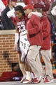 Oct 26, 2013; Norman, OK, USA; Oklahoma Sooners player Trey Millard is helped off the field after being injured in a play against the Texas Tech Red Raiders during the fourth quarter at Gaylord Family - Oklahoma Memorial Stadium. Oklahoma won 38-30.  Mandatory Credit: Alonzo Adams-USA TODAY Sports