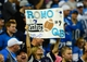 Oct 27, 2013; Detroit, MI, USA; Dallas Cowboys fan holds a sign showing support for Dallas Cowboys quarterback Tony Romo (not pictured) during the fourth quarter against the Detroit Lions at Ford Field. Mandatory Credit: Andrew Weber-USA TODAY Sports