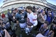 Oct 27, 2013; Philadelphia, PA, USA; Philadelphia Eagles quarterback Matt Barkley (2) and New York Giants quarterback Eli Manning (10) shake hands after the second half at Lincoln Financial Field. The Giants won the game 15-7. Mandatory Credit: Joe Camporeale-USA TODAY Sports