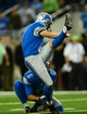 Oct 27, 2013; Detroit, MI, USA; Detroit Lions kicker David Akers (2) kicks the game winning extra point during the fourth quarter to defeat the Dallas Cowboys 31-30 at Ford Field. Mandatory Credit: Andrew Weber-USA TODAY Sports