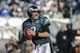 Oct 27, 2013; Philadelphia, PA, USA; Philadelphia Eagles quarterback Matt Barkley (2) looks to pass during the fourth quarter against the New York Giants at Lincoln Financial Field. The New York Giants won the game 15-7. Mandatory Credit: John Geliebter-USA TODAY Sports