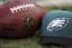 Oct 27, 2013; Philadelphia, PA, USA; A football lies on the Philadelphia Eagles sideline during the first half against the New York Giants at Lincoln Financial Field. The Giants won the game 15-7. Mandatory Credit: Joe Camporeale-USA TODAY Sports