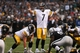 Oct 27, 2013; Oakland, CA, USA; Pittsburgh Steelers quarterback Ben Roethlisberger (7) calls out to his teammates before the snap against the Oakland Raiders during the fourth quarter at O.co Coliseum. The Oakland Raiders defeated the Pittsburgh Steelers 21-18. Mandatory Credit: Kelley L Cox-USA TODAY Sports