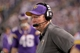 Oct 27, 2013; Minneapolis, MN, USA; Minnesota Vikings offensive coordinator Bill Musgrave during the fourth quarter against the Green Bay Packers at Mall of America Field at H.H.H. Metrodome. The Packers defeated the Vikings 44-31. Mandatory Credit: Brace Hemmelgarn-USA TODAY Sports