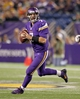 Oct 27, 2013; Minneapolis, MN, USA; Minnesota Vikings quarterback Christian Ponder (7) rolls out during the fourth quarter against the Green Bay Packers at Mall of America Field at H.H.H. Metrodome. The Packers defeated the Vikings 44-31. Mandatory Credit: Brace Hemmelgarn-USA TODAY Sports