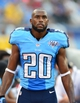 Sep 29, 2013; Nashville, TN, USA; Tennessee Titans cornerback Alterraun Verner (20) walks in the Titans bench area in a game against the New York Jets during the second half at LP Field. The Titans beat the Jets 38-13. Mandatory Credit: Don McPeak-USA TODAY Sports