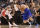 Oct 11, 2013; Toronto, Ontario, CAN; New York Knicks guard Beno Udrih (18) makes a move against Toronto Raptors guard Dwight Buycks (13) at Air Canada Centre. The Raptors beat the Knicks 100-91. Mandatory Credit: Tom Szczerbowski-USA TODAY Sports