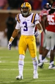 Oct 19, 2013; Oxford, MS, USA; LSU Tigers wide receiver Odell Beckham (3) during the game against the Mississippi Rebels at Vaught-Hemingway Stadium. Mississippi Rebels defeat the LSU Tigers 27-24.  Mandatory Credit: Spruce Derden-USA TODAY Sports