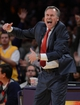 Oct 29, 2013; Los Angeles, CA, USA; Los Angeles Lakers head coach Mike D'Antoni in the second half of the game against the Los Angeles Clippers at the at Staples Center. Lakers won 116-103. Mandatory Credit: Jayne Kamin-Oncea-USA TODAY Sports