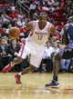 Oct 30, 2013; Houston, TX, USA; Houston Rockets center Dwight Howard (12) drives the ball to the basket during the second quarter against the Charlotte Bobcats at Toyota Center. Mandatory Credit: Troy Taormina-USA TODAY Sports