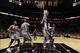 Oct 30, 2013; San Antonio, TX, USA; Memphis Grizzlies center Kosta Koufos (41) dunks during the second half against the San Antonio Spurs at AT&T Center. The Spurs won 101-94. Mandatory Credit: Soobum Im-USA TODAY Sports