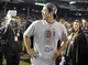 Oct 30, 2013; Boston, MA, USA; Boston Red Sox relief pitcher Koji Uehara celebrates on the field after game six of the MLB baseball World Series against the St. Louis Cardinals at Fenway Park. The Red Sox won 6-1 to win the series four games to two. Mandatory Credit: Bob DeChiara-USA TODAY Sports