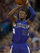 Oct 30, 2013; Sacramento, CA, USA; Sacramento Kings shooting guard Ben McLemore (16) takes a shot against the Denver Nuggets during the fourth quarter at Sleep Train Arena. The Sacramento Kings defeated the Denver Nuggets 90-88. Mandatory Credit: Ed Szczepanski-USA TODAY Sports