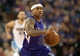 Oct 30, 2013; Sacramento, CA, USA; Sacramento Kings point guard Isaiah Thomas (22) pushes the ball up the court during the fourth quarter of the game against the Denver Nuggets at Sleep Train Arena. The Sacramento Kings defeated the Denver Nuggets 90-88. Mandatory Credit: Ed Szczepanski-USA TODAY Sports