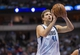 Oct 25, 2013; Dallas, TX, USA; Dallas Mavericks power forward Dirk Nowitzki (41) attempts a free throw during the game against the Indiana Pacers at the American Airlines Center. The Pacers defeated the Mavericks 98-77. Mandatory Credit: Jerome Miron-USA TODAY Sports