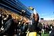 Oct 26, 2013; Iowa City, IA, USA; Iowa Hawkeyes defensive lineman Carl Davis (71) celebrates after defeating the Northwestern Wildcats 17-10 in overtime at Kinnick Stadium. Mandatory Credit: Byron Hetzler-USA TODAY Sports